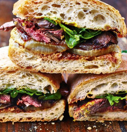 steak uien sandwich jamie oliver