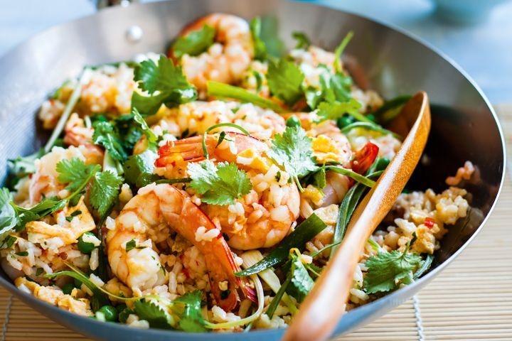 Thaise wok, Gamba's, Wok met kokos